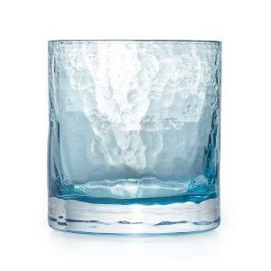 Winter glass, blue