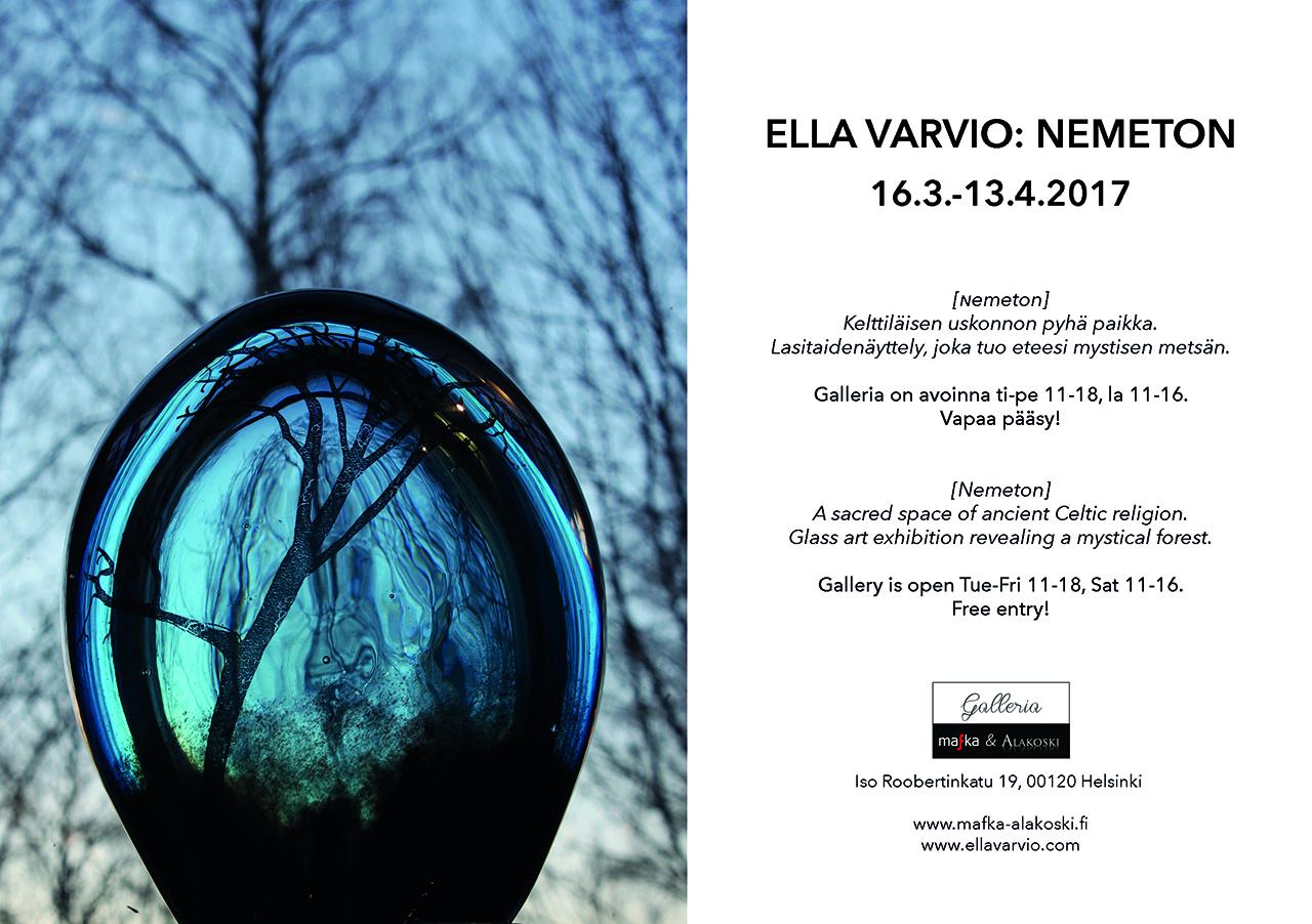 Artist-designer Ella Varvio: Art glass exhibition Nemeton