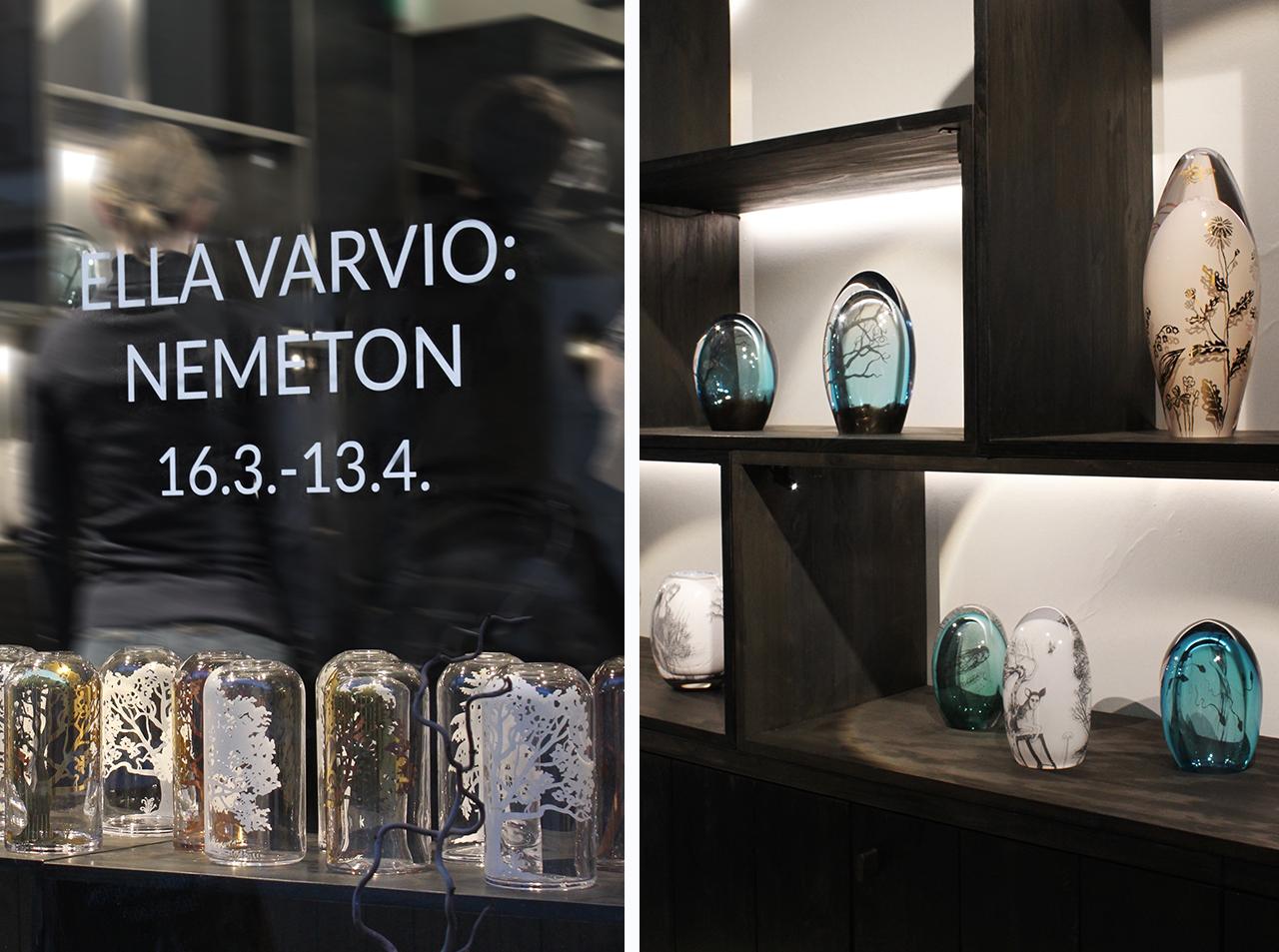 Ella Varvio: Nemeton art glass exhibition at Galleria Mafka&Alakoski.