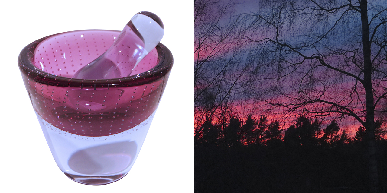 Mouth blown Finnish glass: Limited edition of Vihma glass mortar by Mafka