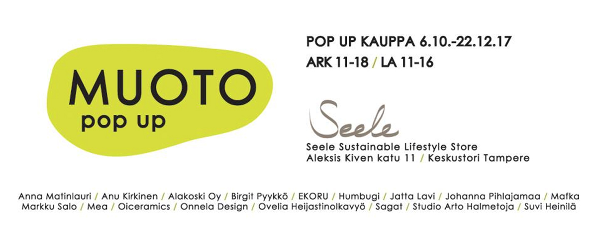 Muoto pop up Tampere 2017