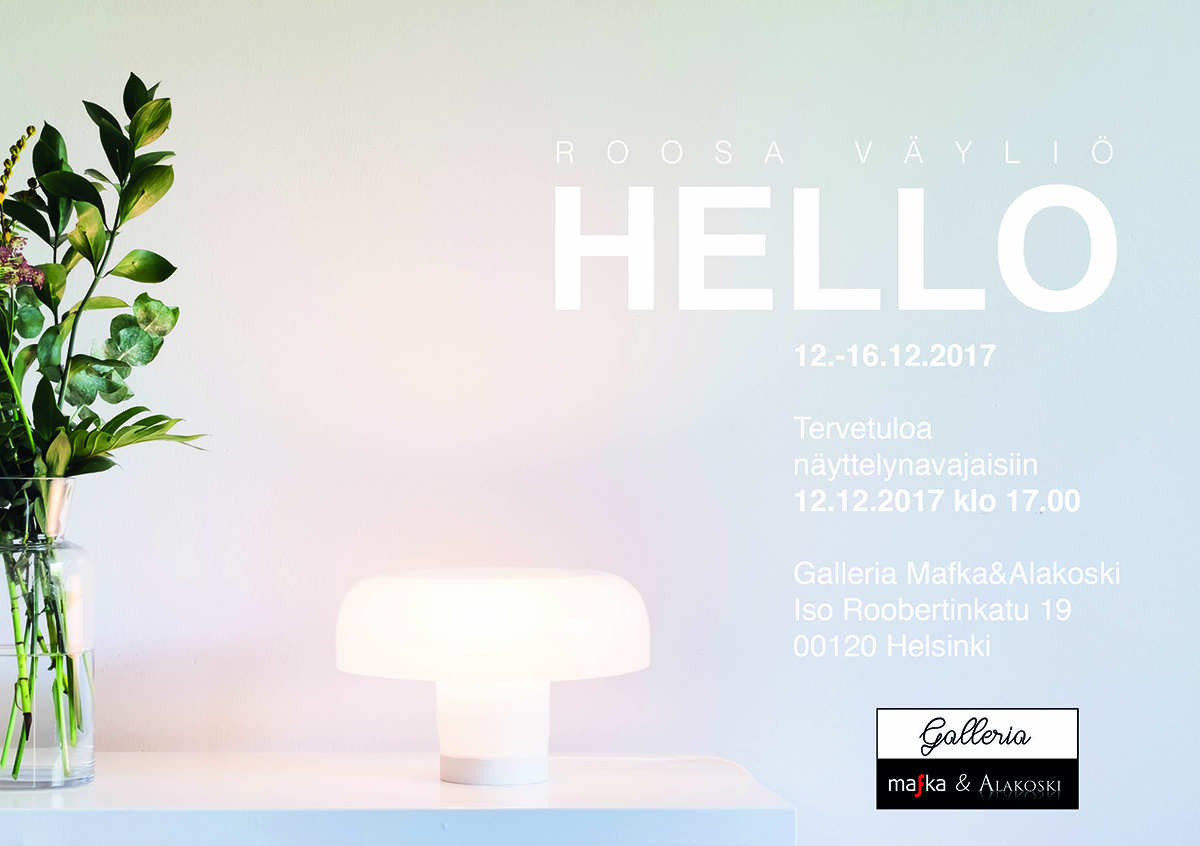 Hello -lasimuotoilunäyttelyn avajaiset