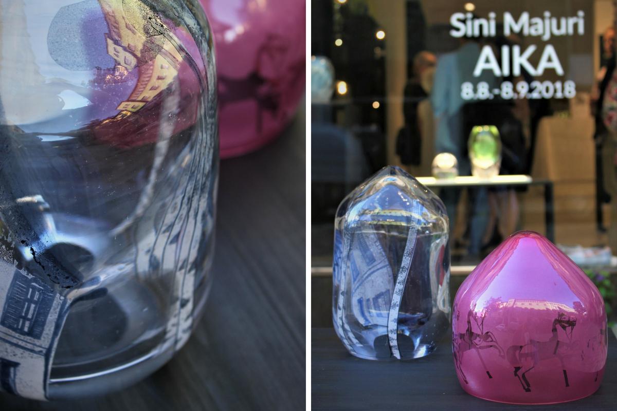 Lasitaitelija Sini Majuri: Aika - Time lasitaidenäyttely
