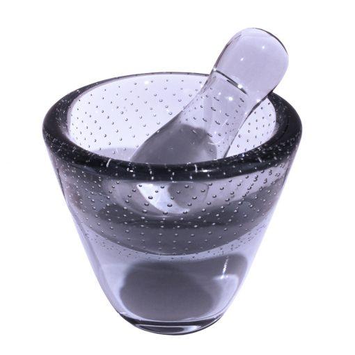 Limited edition of Vihma glass mortar by Mafka color Summer Twilight