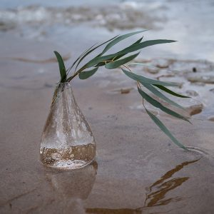 Jäähelmi -vaasi, soodakuplalla